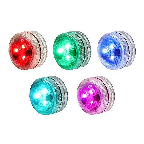 Teichbeleuchtung RGB Kerzen Stimmungslichter LED Kerzen Lichter Poolbeleuchtung Wasserdicht IP68 für Aquarium, Pools, Badewanne