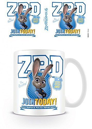 1art1 Zoomania, ZPD Foto-Tasse Kaffeetasse (9x8 cm) Inklusive 1x Überraschungs-Sticker