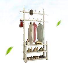 Râteliers multi-usages Cintre Plancher Plancher de Chambre à Coucher en Bois Massif Multifonctionnel Simple Porte-Manteau ...
