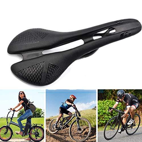 Selle Velo Route Confort, Selle Vélo Femme Protection Respirante avec Zone De Soulagement Centrale pour La Plupart des Vélos Montagne/Route/Hybride,Black