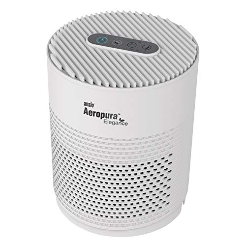 ANSIO Air Purifier for Home with True HEPA Activated Carbon Filter,Portable Air purifier for Bedroom, Air Cleaner for Dust, Smokers, Pollen, Pets, Dander, Cooking, Allergy -White
