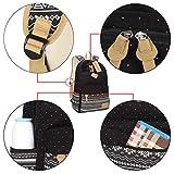 Neuleben Schulrucksack + Kühltasche + Mäppchen Schultaschen 3 Set aus Canvas für Jungen Mädchen Schule Freizeit (Schwarz) - 8