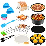 124Pcs Air Fryer Accessories, Bestcool Airfryer Kit 8'' Actifry Air Fryer of 4.2QT-6.8QT-UP with Non-Stick Cake Pan, Silicone Mat, Pizza Tray Suitable for Healthy Eating
