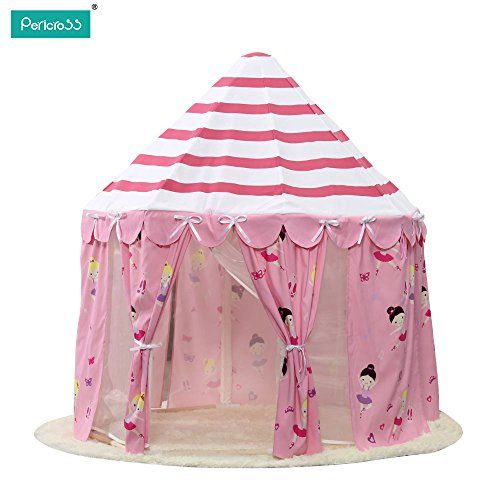Pericross-Princesse Maison de Jouet Rose Tente de Jouet pour Les Filles(Rose)