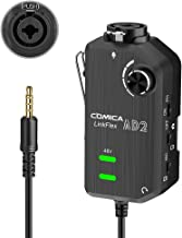 Audio Preamp Adapter Comica LINKFlEX AD2 XLR/ 6.35MM Microphone Preamp Amplifier with 48V Phantom Power, Guitar Interface ...