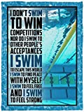 i Dont Swim-to-Win competitions Fleece Blanket Premium Sherpa Blanket Woven Blanket Customized