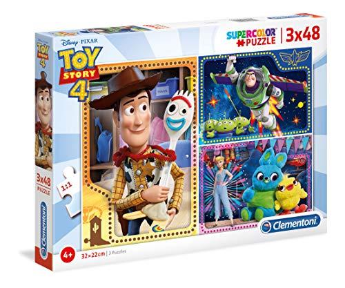 Clementoni Supercolor Disney 25242 Puzzle-Toy Story 4 - 3 x