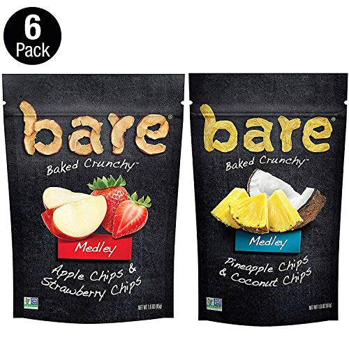 bare Medleys Variety Pack Apple Strawberry amp Pineapple Coconut 6 Pack