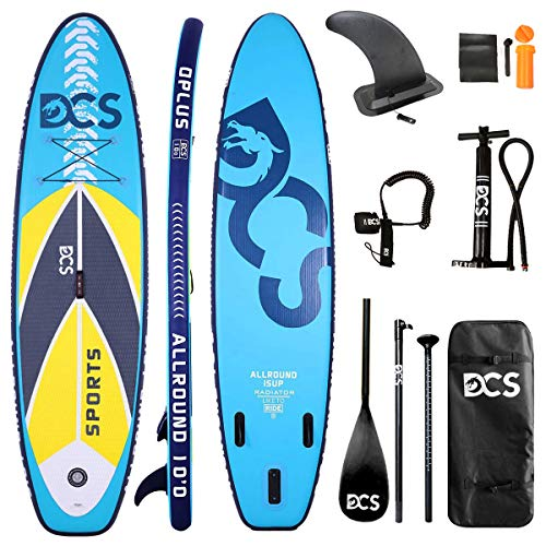Airgymfactory Inflatable Stand Up Paddle Board with Premium SUP Accessories & Carry Bag | Wide Stance, Bottom Fin for Paddling, Surf Control, Non-Slip Deck | Youth & Adult Standing Boat