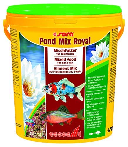 sera 07108 pond mix royal 21 l – Futtermischung aus Flocken, Sticks und mit 7 % Gammarus als Leckerbissen für alle Teichfische - 5