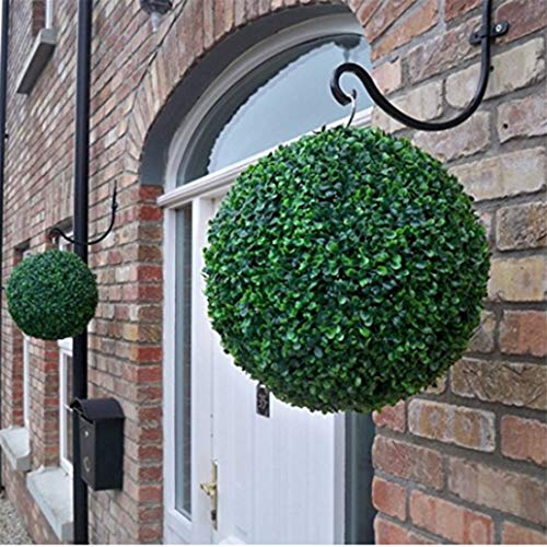 Gardens2you Ogquaton - Erba artificiale di qualità premium, semicircolare, decorazione da giardino, senza catena e fessure