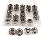 Penta Angel 25PCS Metal Sewing Machine Bobbins Wire Core Coil Bobbins with Clear Box for Brother Singer Babylock Janome Kenmore
