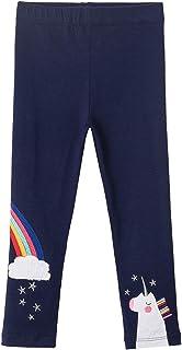 TTYAOVO - Pantalón impreso para niña, diseño de unicornio