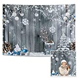 Miktwe 10X8ft Polyester Winter Christmas Photography...