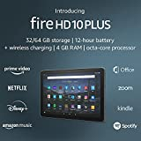 Introducing Fire HD 10 Plus tablet, 10.1', 1080p Full HD, 32 GB, Slate