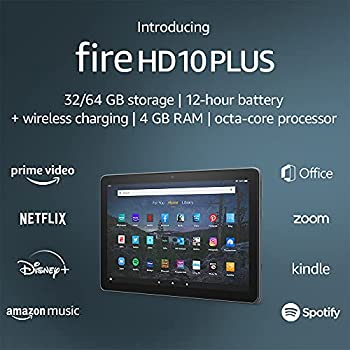 Introducing Fire HD 10 Plus tablet 10.1  1080p Full HD 32 GB latest model  2021 release  Slate