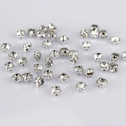 Abalorios de cristal LolliBeads, diamantes de imitación en cristal checo con base...