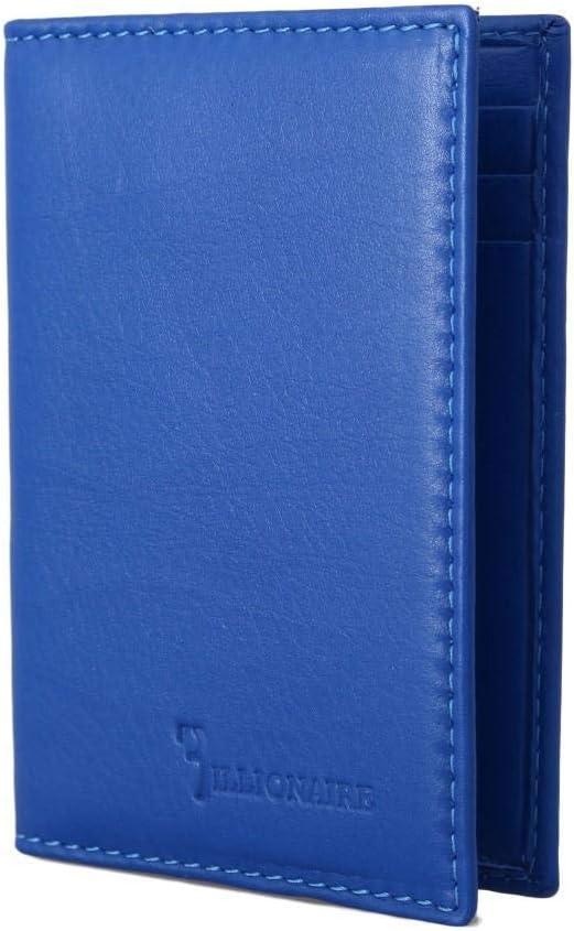 Billionaire Italian Couture Bargain Blue Leather Sales for sale Bifold Wallet Men's