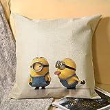 Minions - Fundas de almohada con cremallera estándar de 45 x 45 cm