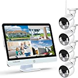 <span class='highlight'><span class='highlight'>YESKAMO</span></span> Wireless CCTV Camera System 1080P [ Floodlight & Monitor ] WiFi IP Camera Set 16'' Full HD IPS Screen, 8CH Outdoor 4 Cameras Kit with Audio, Home Security Video Surveillance No Hard Drive