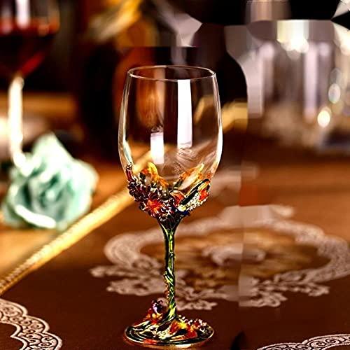 Copas Vasos Cóctel Decantador De Vino De Cristal 100% Copas De Boda Sopladas A Mano Con Lirios Asas Esmaltadas Jarra Y Copa De Vino De Alta Calidad