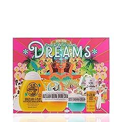Whats Included: Brazilian 4 Play Moisturizing Shower Cream-Gel (90 ml), Brazilian Bum Bum Cream (75 ml), Coco Cabana Body Cream (25 ml), Brazilian Kiss Cupuaçu Lip Butter (0.21 oz) Brazilian Bum Bum Cream is a luxurious all-over body cream that absor...