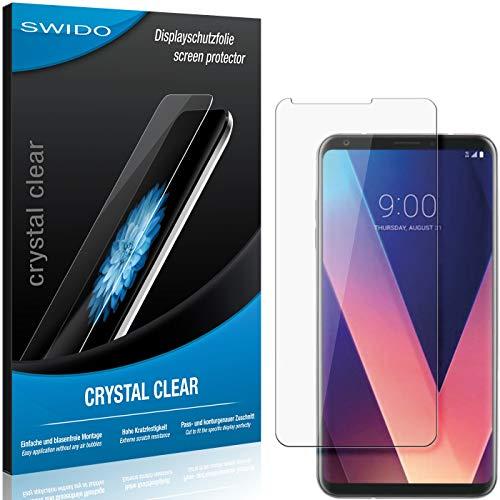 SWIDO Schutzfolie für LG V30S ThinQ [2 Stück] Kristall-Klar, Hoher Festigkeitgrad, Schutz vor Öl, Staub & Kratzer/Glasfolie, Bildschirmschutz, Bildschirmschutzfolie, Panzerglas-Folie