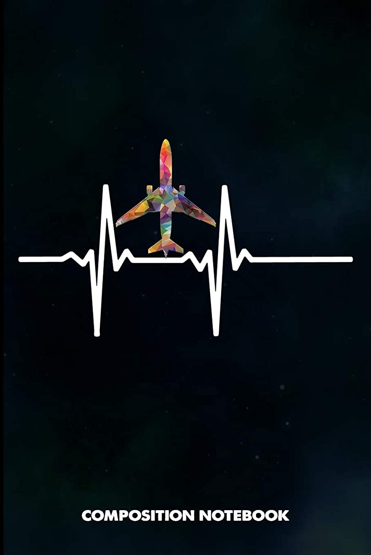 パラシュート消費気をつけてComposition Notebook: Flight Attendant Heartbeats, Birthday Journal for Fly Cabin Crews to write on