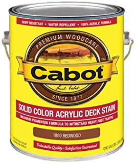 Cabot Solid Redwood Oil-Based Acrylic Deck Stain 1 gal. - Case of: 4; Each Pack Qty: 1