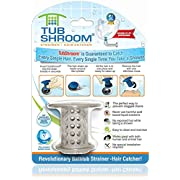 #LightningDeal TubShroom the Revolutionary Tub Drain Protector Hair Catcher/Strainer/Snare, Gray