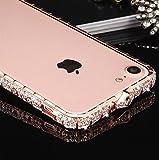 apple iPhone 8 アルミバンパー ケース ラインストーン キラキラ エレガント かわいい おしゃ……