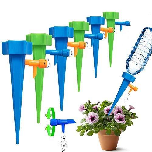 Cheelom - Sistema de riego de automático por goteo, ideal para vacaciones, sistema de picos de riego por goteo para las plantas, cuide sus plantas de interior y exterior. (Clásico)