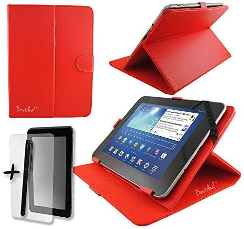 Rode PU lederen hoes beschermer & standaard voor Kurio Tab 7 Inch Kids Tablet 7