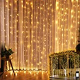 Luces Decorativas, Cortina de Luces Led 6mx3m 600 Led Luz Cadena Decorativa...