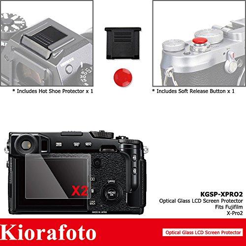 Kiorafoto 液晶保護フィルム 2枚入 Fujifilm X-Pro 2 適用 シューカバー シャッターボタン 付属