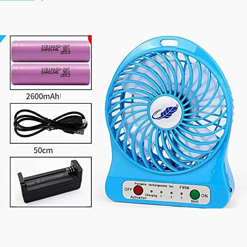 DJP Ventilador Usb, Ventilador Portátil Pequeño Ventilador Usb para Estudiantes,Azul