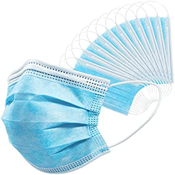 50 Count 3 Ply Disposable Face Masks