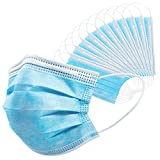 Disposable Face Masks 50 PCS 3Ply Breathable & Comfortable Filter...