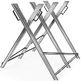 Monzana Caballete para cortar leña Banco con soporte dentado para troncos plegable carga de hasta 150Kg Carpintería