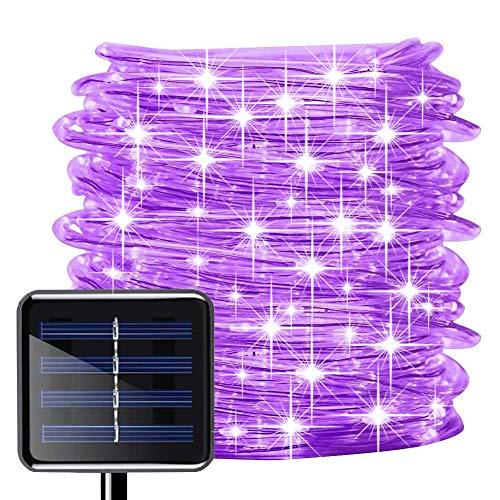 picK-me Luces de Cuerda Solar, Impermeable al Aire Libre 100 LED 33 FT / 10 M, Luces de hadas, Tubo...