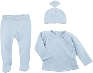 Mud Pie Blue Cable Knit Set