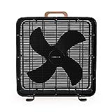 CREATE AIR FLOOR BOX - Ventilador de Suelo Industrial, 3 velocidades, 4 Aspas de Aluminio, Cuerpo Acero Inoxidable, Potente Flujo de Aire, Rejilla de Protección, con Asa de Transporte, 90W (Negro)
