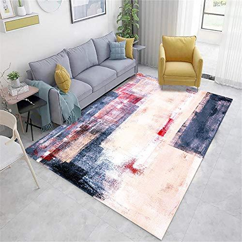 Xiaosua alfombras a Medida Online Rosa Alfombra de Estar Alfombra Pink Doodle Vintage Antiguo Patrón con Rumor Anti-Mita alfombras de Salon 140x200cm alfombras habitacion 4ft 7.1''X6ft 6.7''