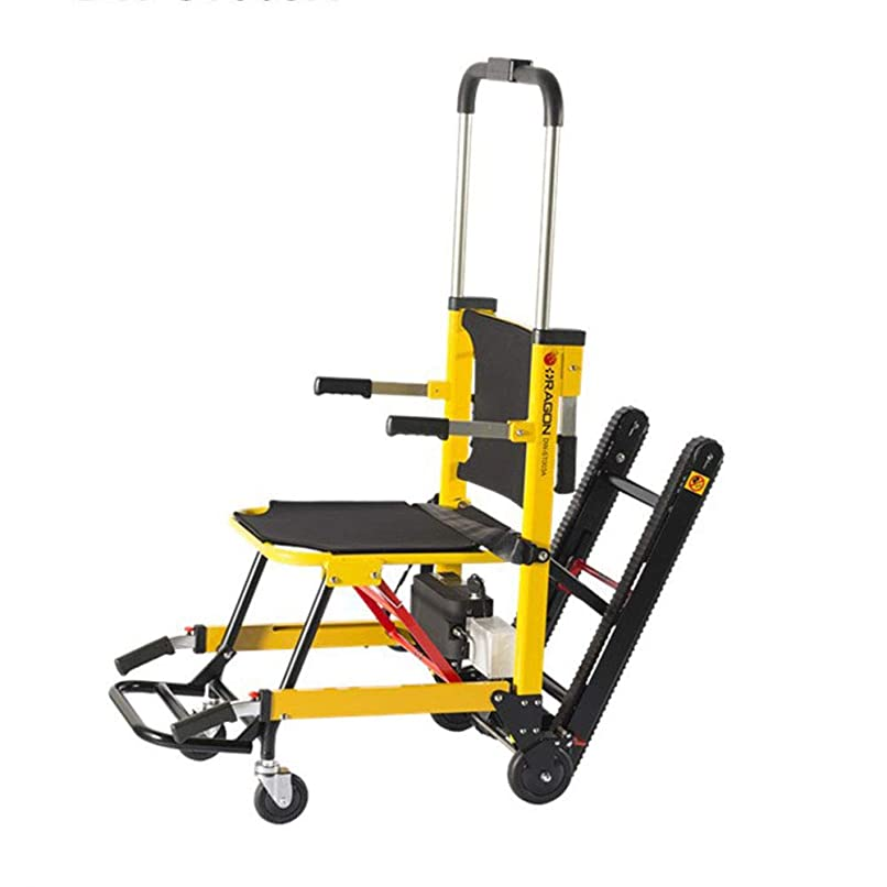 ガロン前者フリース電気EMS避難階段椅子-350ポンドの重量に耐えるクローラー折りたたみ式電動登山階段車椅子