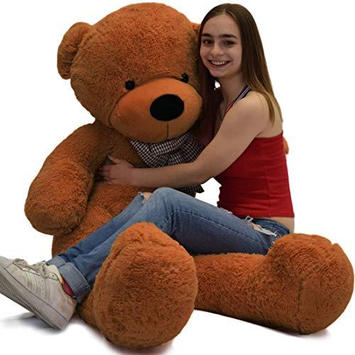 VERCART 6 Foot 71 inch Dark Brown 1Giant Huge Cuddly Stuffed Animals Plush Teddy Bear Toy Doll