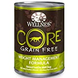 Wellness CORE Natural Wet Grain Free Canned Weight Management Dog Food, 12.5-Ounce Can (Pack of 12)