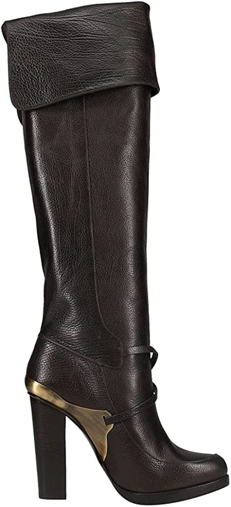 Lucchese Womens Tumbled Calf Pull On Boots Mid Calf Low Heel 1-2