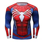 Cody Lundin Homme Spider Héros T-shirt Collant Manches Longues, Sport Fitness Shirt - Photo color - XX-Large