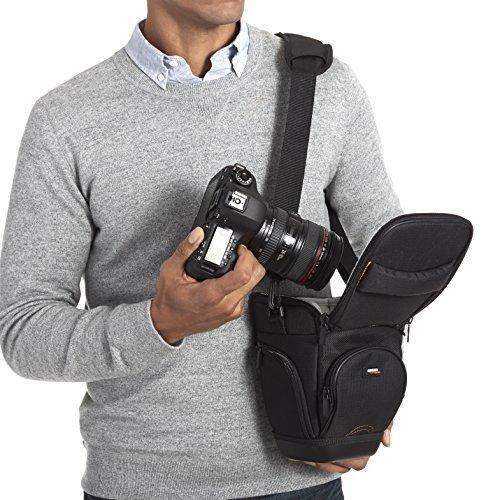 Amazon Basics Holster Camera Case for DSLR Cameras – Black
