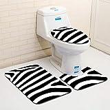 WEMUR Alfombrillas de baño Cebra Estrías Baño Aseo Mats Set absorbentes de Agua Franela Alfombra de baño Antideslizante Suelo Alfombra-A Alfombra de baño (Color : B)